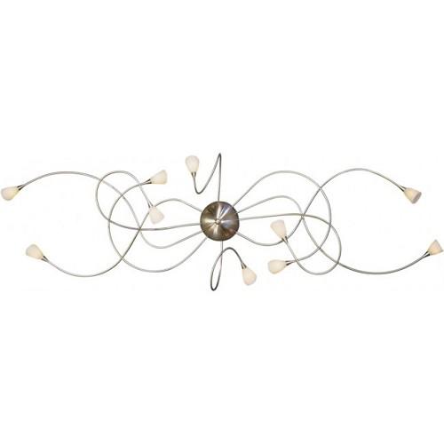 Plafondlamp Octopus staal woonkamer | Straluma