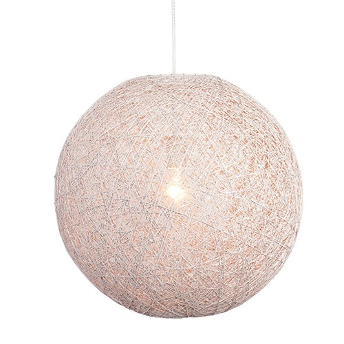 Hanglamp bol gebroken wit Abaca 45cm