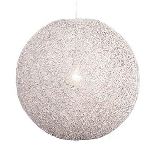 Hanglamp Abaca gebroken wit rond 35 cm