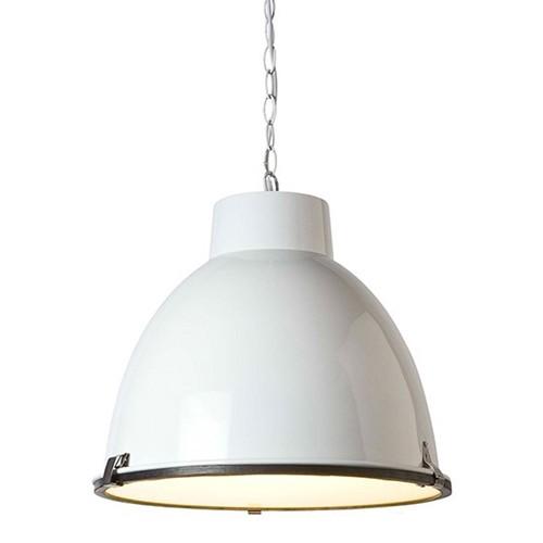 Hanglamp industrie wit, eettafel-kamer | Straluma