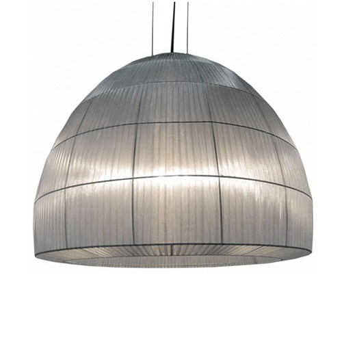 Hanglamp Kap stof zilver, vide-eetkamer | Straluma