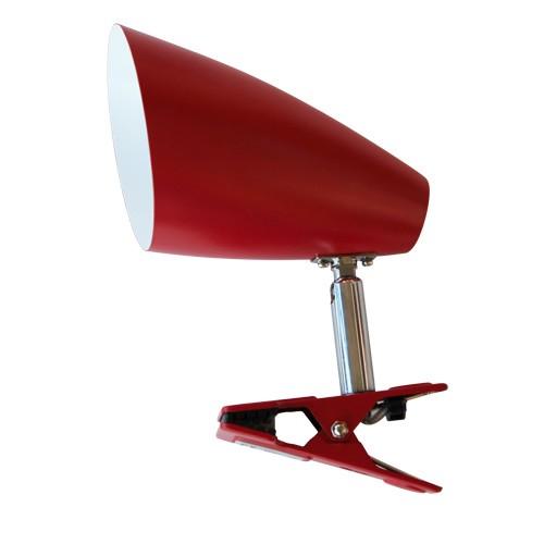 *Klemspot rood leeslamp tienerkamer