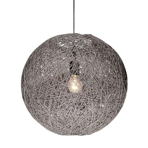 Abaca hanglamp draad grijs keuken/hal