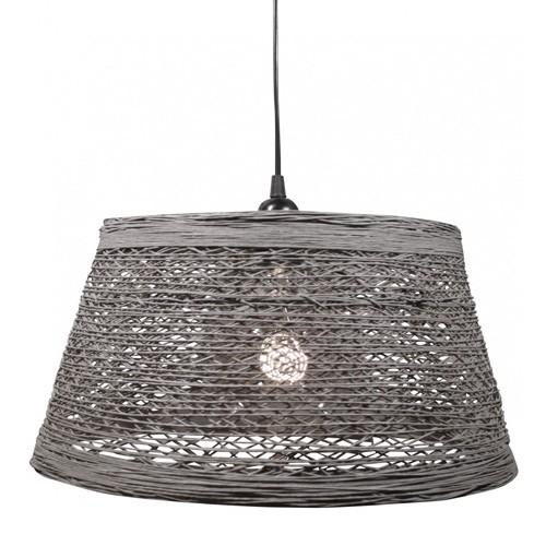 Hanglamp draad cement-grijs slaapkamer | Straluma