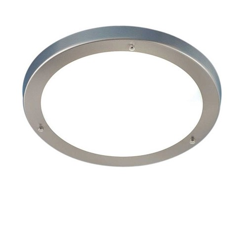 Aanbieding Plafondlamp staal- wit glas