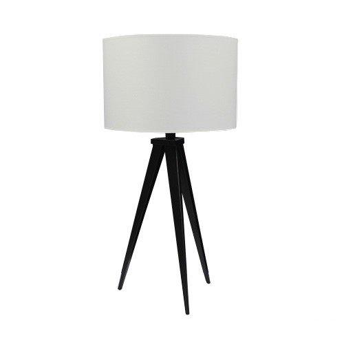 Moderne tafellamp driepoot zwart