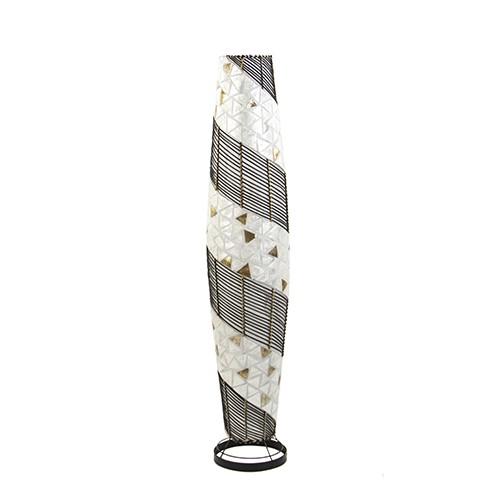 Sfeervolle vloerlamp capiz met hout