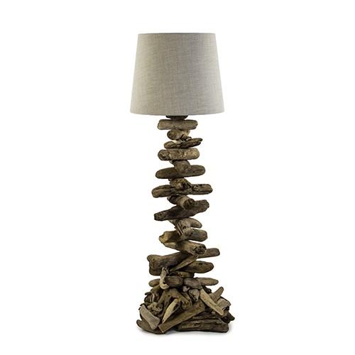 *Unieke vloerlamp van drijfhout excl kap