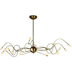 Klassieke hanglamp brons eettafel