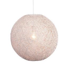 *Hanglamp Abaca gebroken wit rond 60 cm