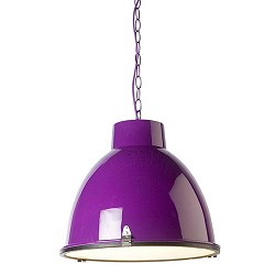 *Industriele hanglamp paars tienerkamer