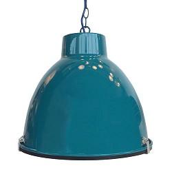 *Hanglamp industrie petrol tienerkamer