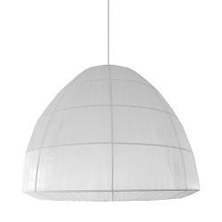 *Slaapkamer hanglamp wit organza 45 cm