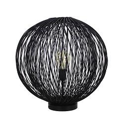 * Romantische Bamboe tafellamp zwart