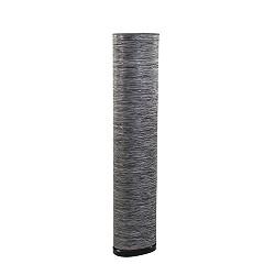 *Sfeervolle ovale vloerlamp grijs/zwart