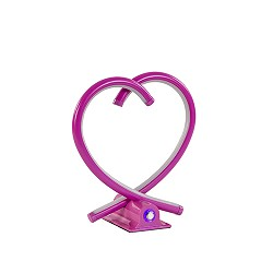 *Dimbare LED tafellamp roze hart