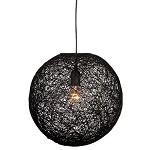 *Abaca hanglamp zwart bol 45 cm