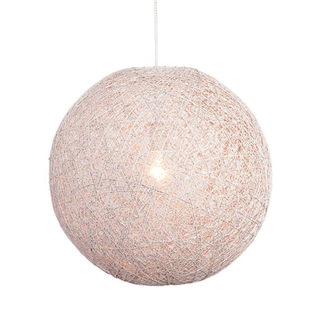 Hanglamp Abaca gebroken wit rond 60 cm