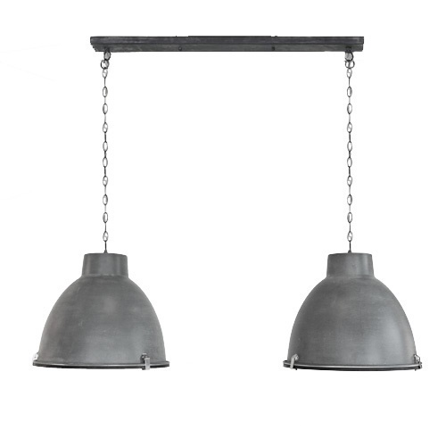 Hanglamp 2L Dubbele Kap Eettafel beton