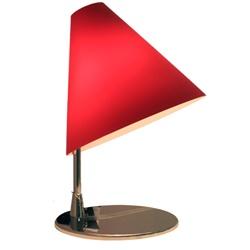 Tafellamp rood glas, tiener-slaapkamer