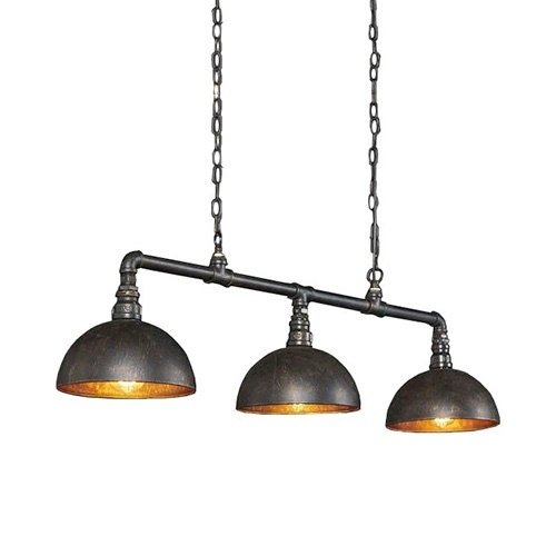 Industriele buizen hanglamp 3-lichts