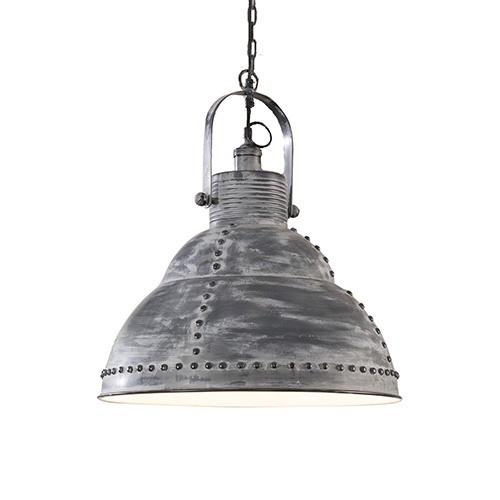 Industriële hanglamp popnagel betonlook