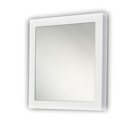 Moderne spiegel hoogglans wit vierkant straluma - Moderne spiegels ...