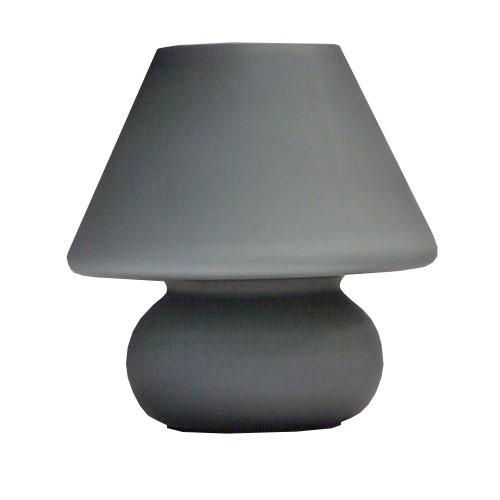 trendy tafellamp grijs glas slaapkamer straluma