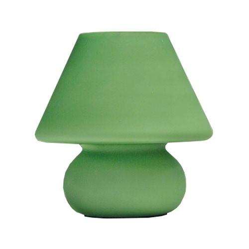 Retro tafellamp groen glas slaapkamer