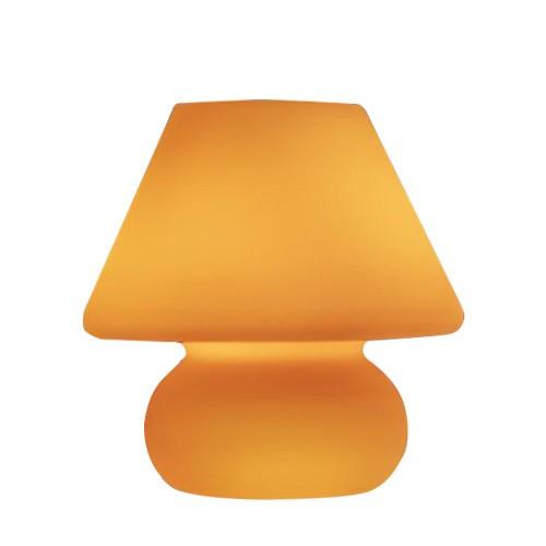 Trendy tafellamp geel woonkamer