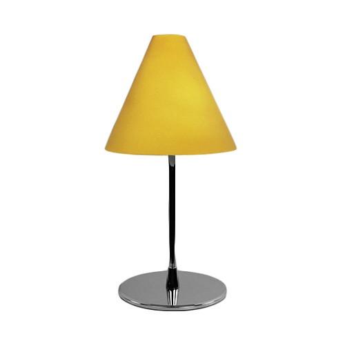 moderne tafellamp geel glas slaapkamer straluma