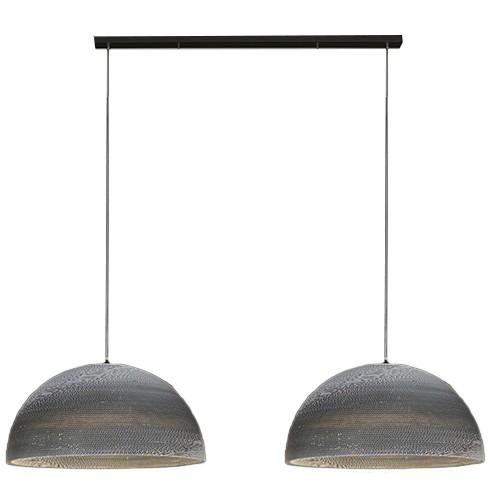 Trendy Hanglamp karton 2-lichts eettafel