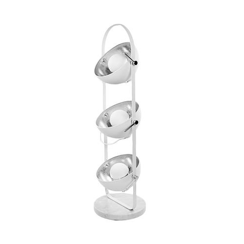 Vloerlamp Sunny 3x koepel wit/zilver