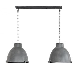*Hanglamp 2L Dubbele Kap Eettafel beton
