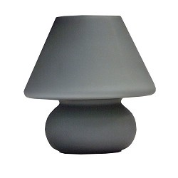 Trendy tafellamp grijs glas slaapkamer