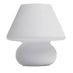 Leuke tafellamp wit glas woonkamer