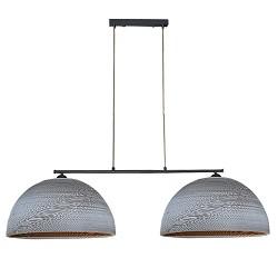 *Hanglamp 2-lichts kappen van karton wit