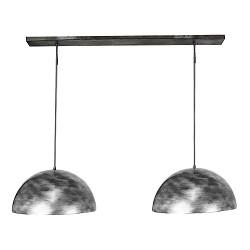 Hanglamp zwart-zilver, mooie binnenkant
