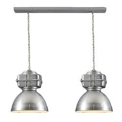 *Industriele hanglamp balk 2-lichts