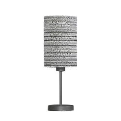 *Tafellamp met kap van karton - wit
