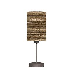 *Tafellamp met kap van karton - bruin