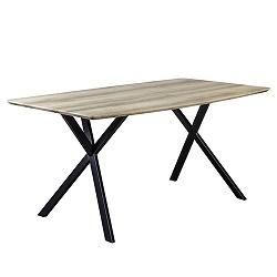 Eettafel met X-poot eikenlook 160x90