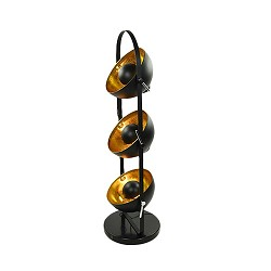 Aanbieding vloerlamp sunny zwart/goud