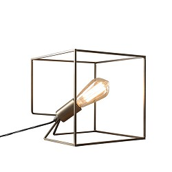 *Design tafellamp Cube frame dressoir