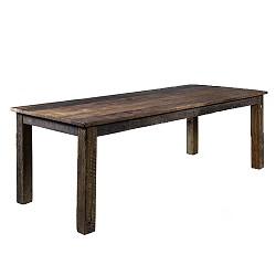 Eettafel massief gerecycled  hout