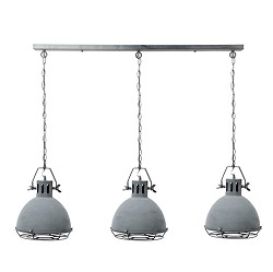 **Eettafel hanglamp industrie betonlook