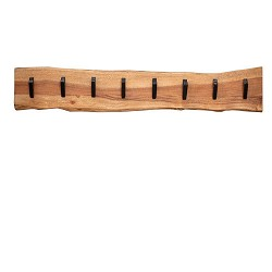 Kapstok EDGE 8 haken hout landelijk