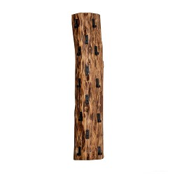Boomstam kapstok massief hout 14 haken