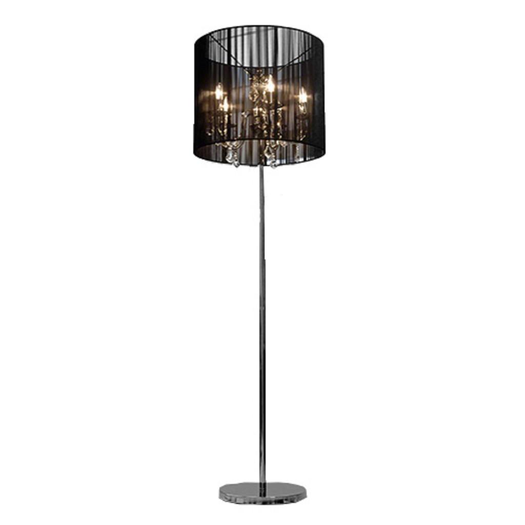 Spiksplinternieuw Staande lamp kroonluchter in zwarte kap | Straluma XX-92