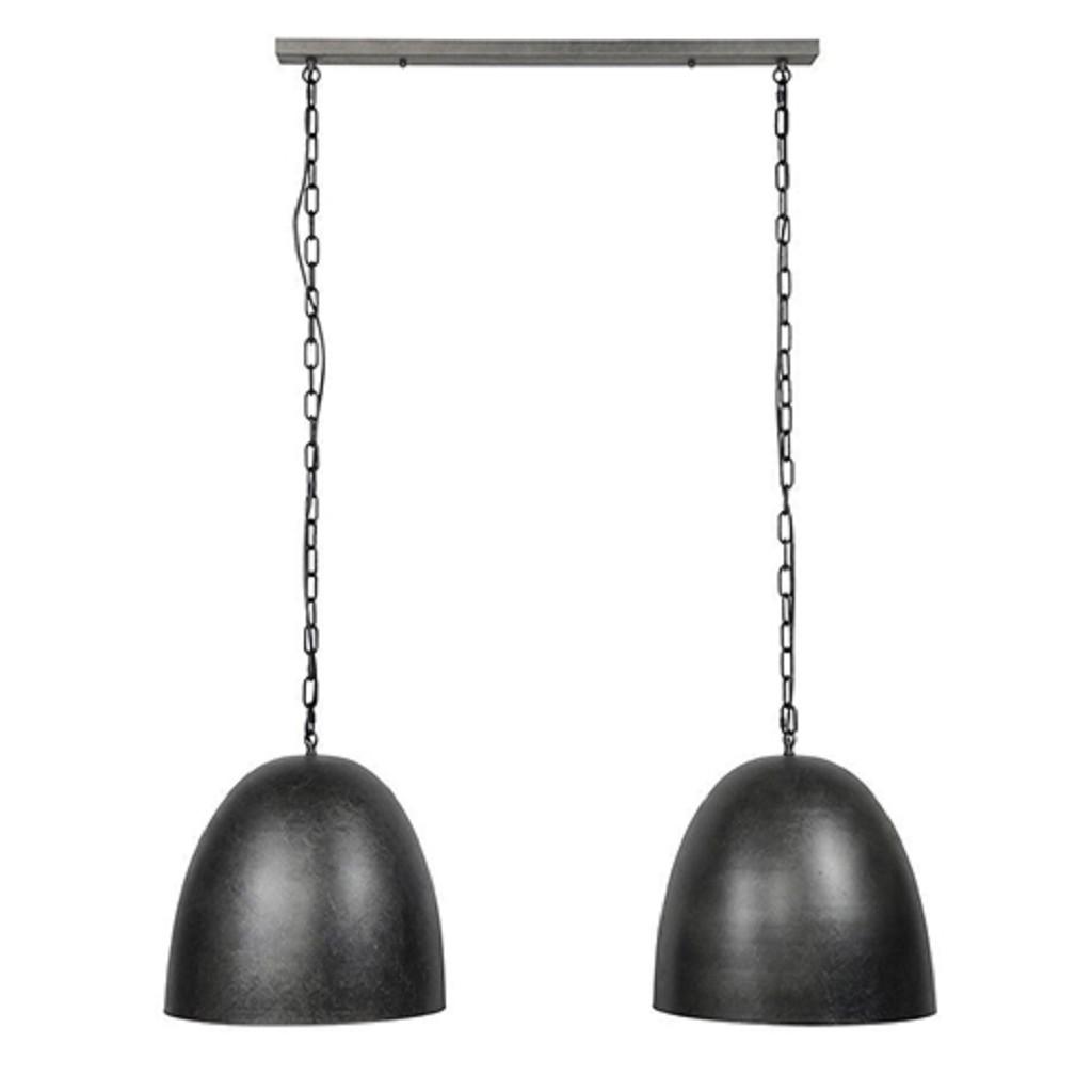 Landelijke hanglamp donker metaal
